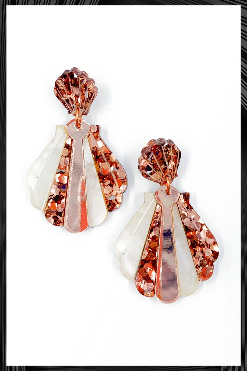 Dusty Pink Shell Earrings | Free Delivery - Quick Shipping