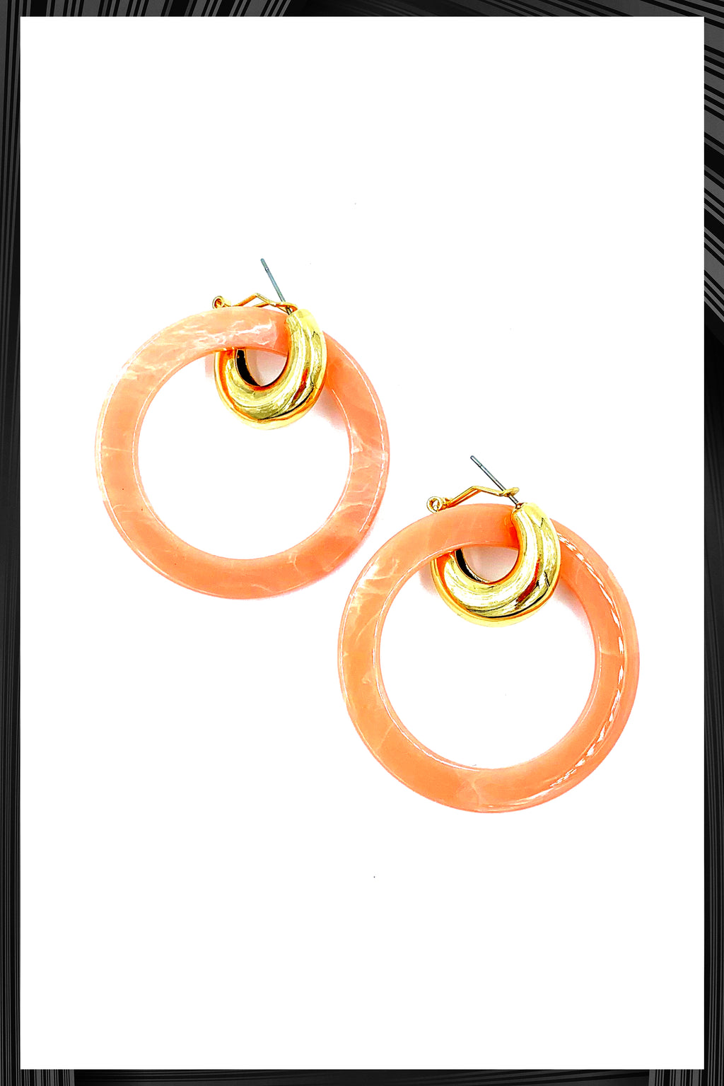 Pink Stacey Earrings
