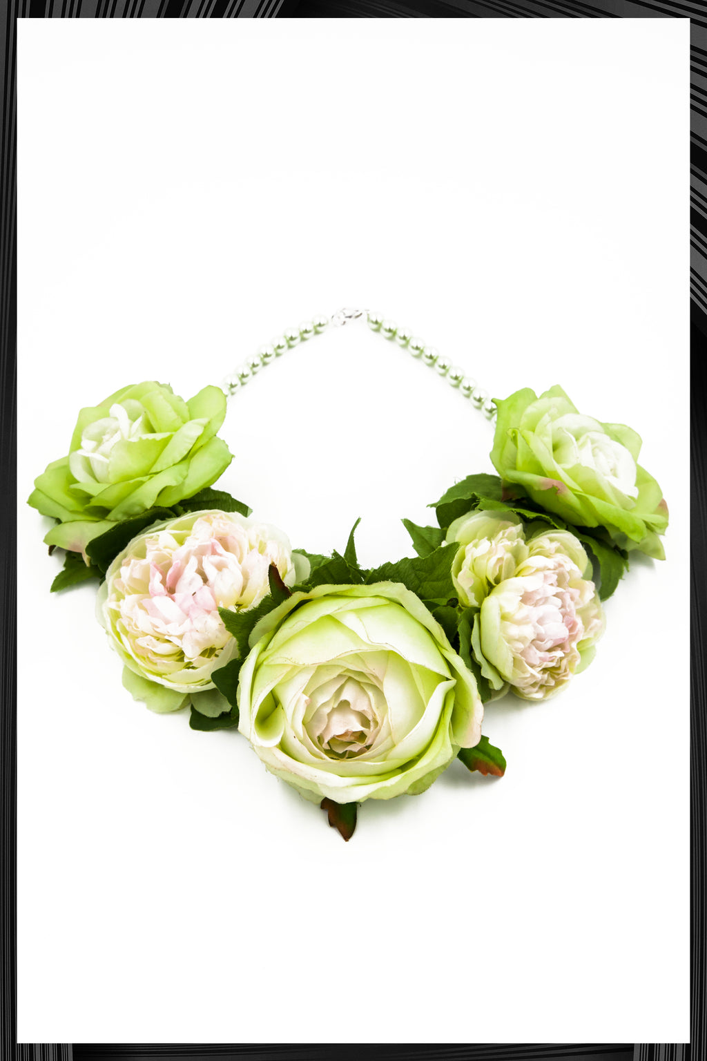 Green Flower Necklace | Free Delivery - Quick Shipping