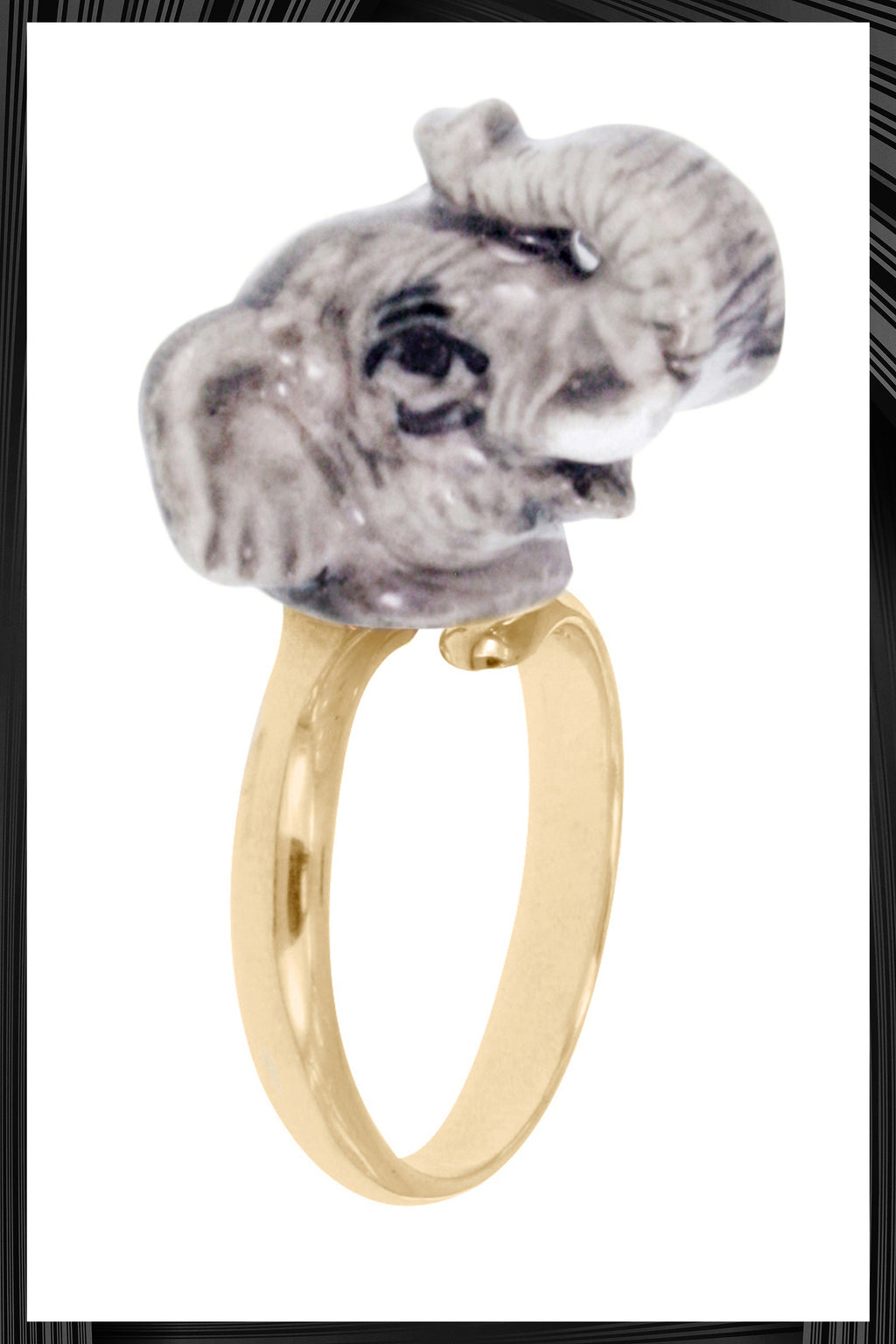 Elephant Gold Ring