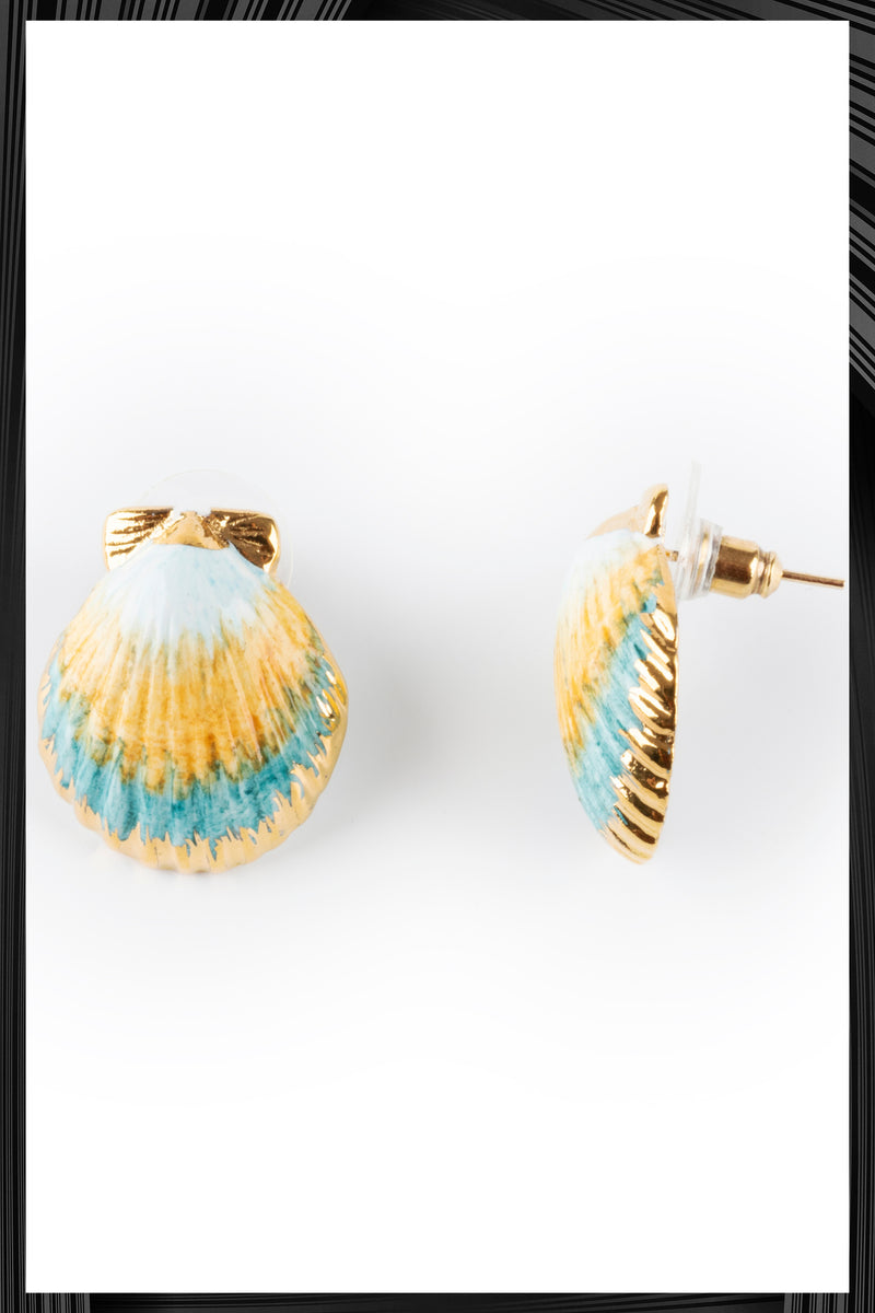 Blue Shell Earrings