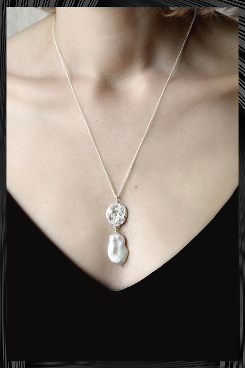 Moon Pearl Necklace