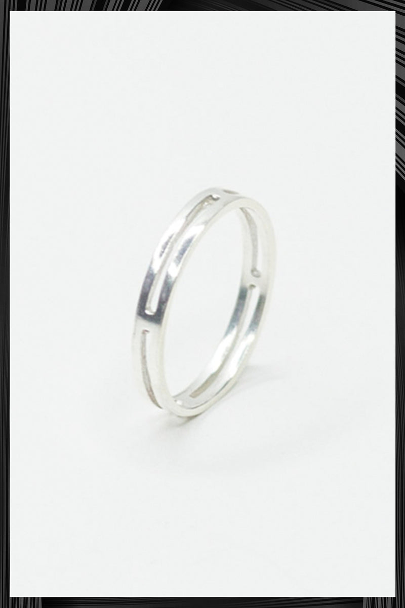 Single Not Married Silver Ring