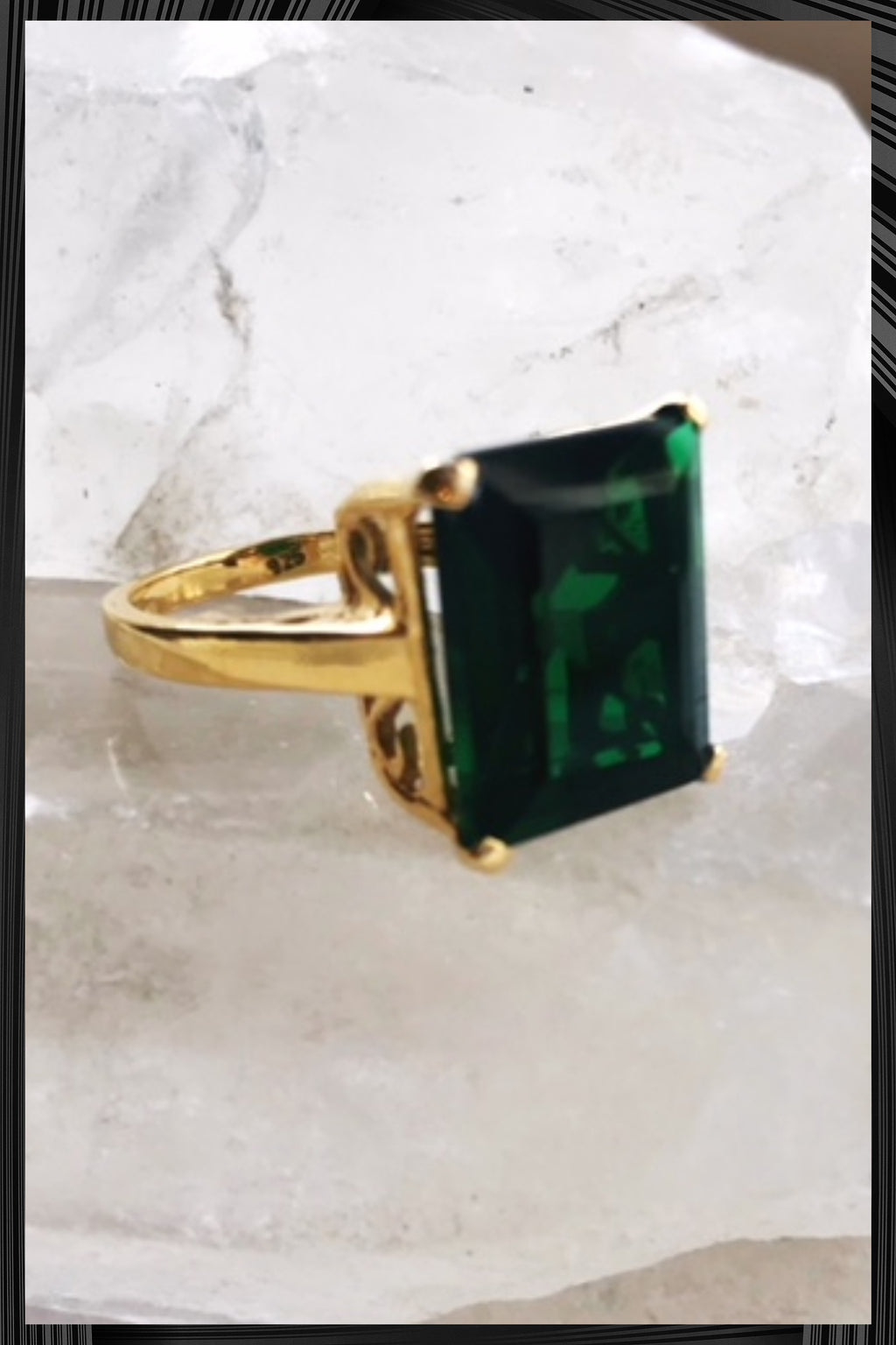 Emerald Green Claudia Ring
