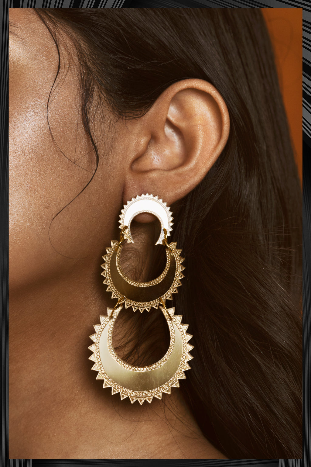 Layered Chand Earrings | Free Delivery - 2-3 Week Shipping