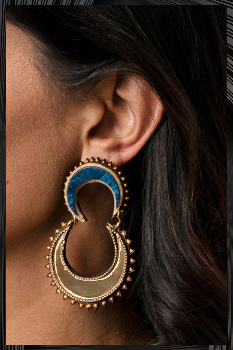 Chand Drop Earrings  | Free Delivery - 2-3 Week Shipping