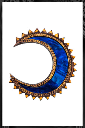 Blue Chand Stud Earrings  | Free Delivery - Quick Shipping