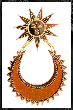 Sun-Chand Earrings | Free Delivery - 2-3 Week Shipping