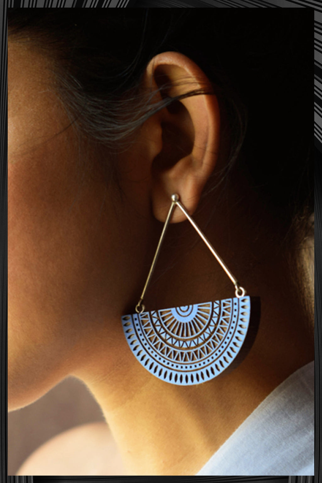 Chandratithi Indigo Earrings | Free Delivery - 2-3 Weeks Shipping