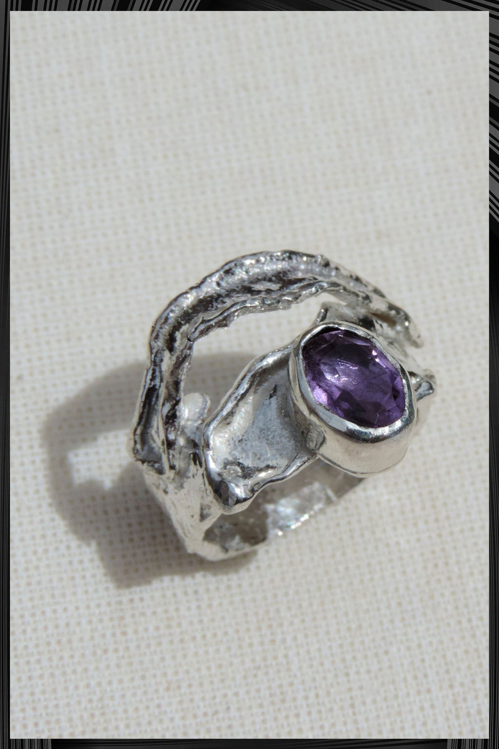 Agata Amethyst Ring | Free Delivery - Quick Shipping