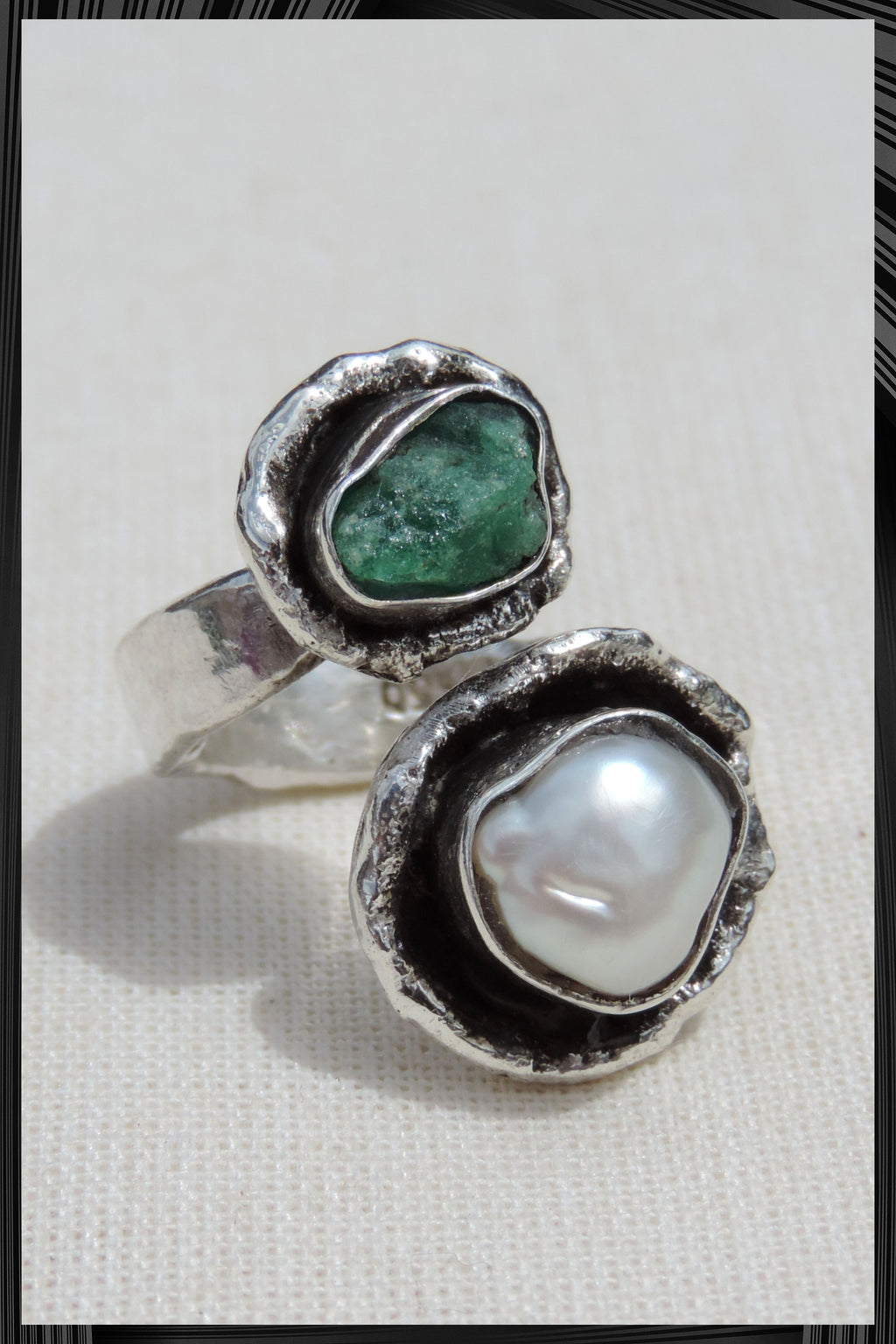 The Emerald and Pearl Ring