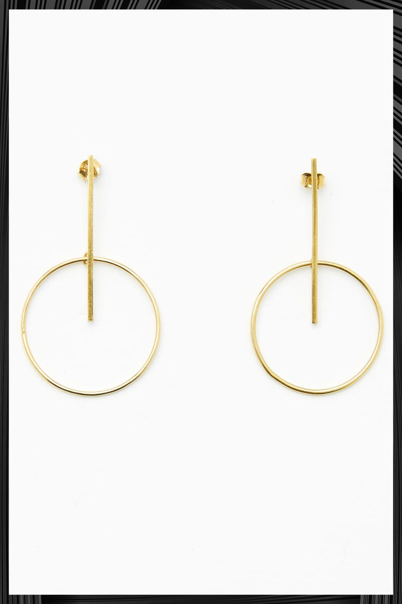 Hula Hoops Gold Earrings