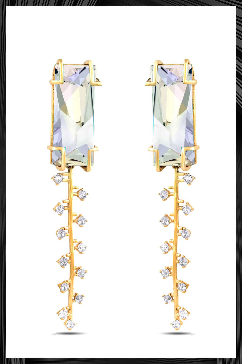 Cristal Fulgar Zip Earrings | Free Delivery - Quick Shipping