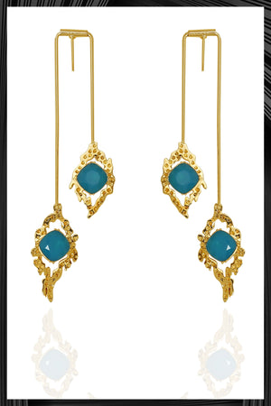 Blue Athena Earrings | Free Delivery - Quick Shipping