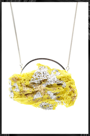 Yellow & Silver Leaf XL Necklace