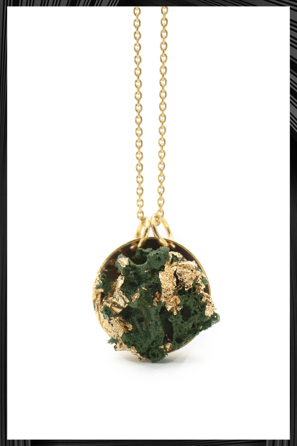 Green & Gold Leaf Pendant Necklace | Free Delivery - Quick Shipping