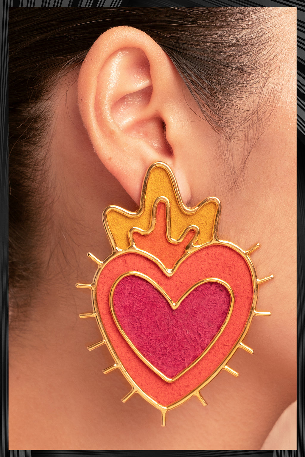 Sagrado Corazon Earrings  | Free Delivery - 3 Week Shipping