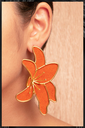 Lirios Orange Earrings