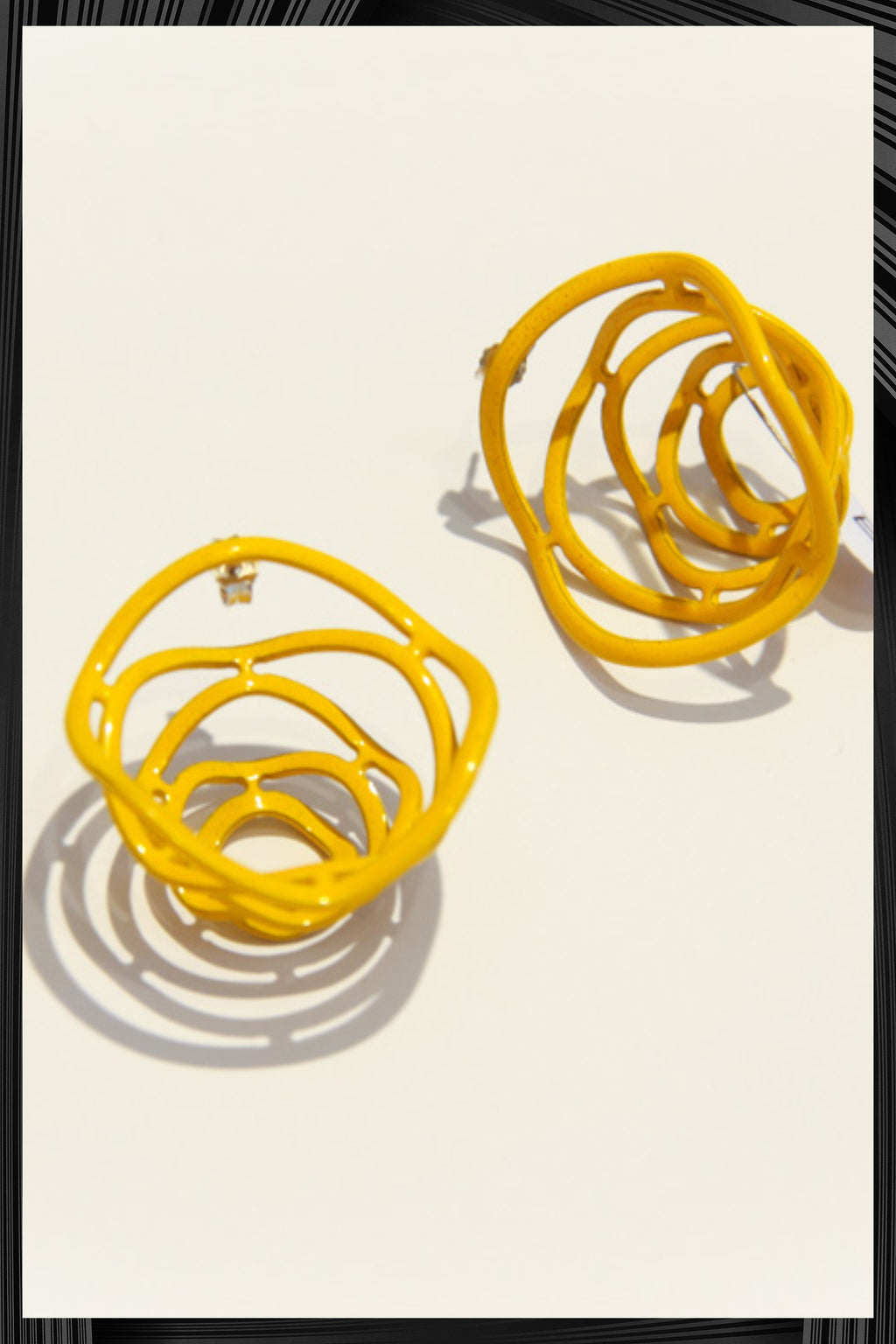Yellow Megaphone Earrings