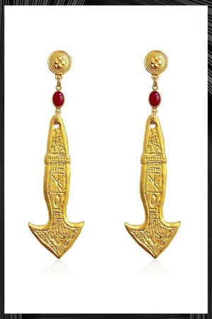 Flecha Florida Gold Earrings | Free Delivery - 2-3 Weeks Shipping