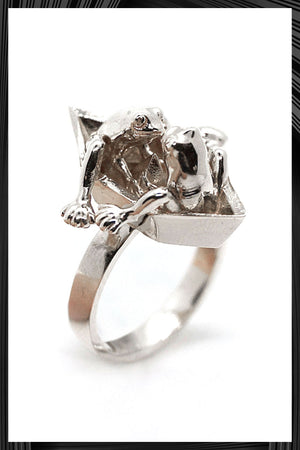 Two Frogs Origami Boat Ring | Free Delivery - 2-3 Weeks Shipping