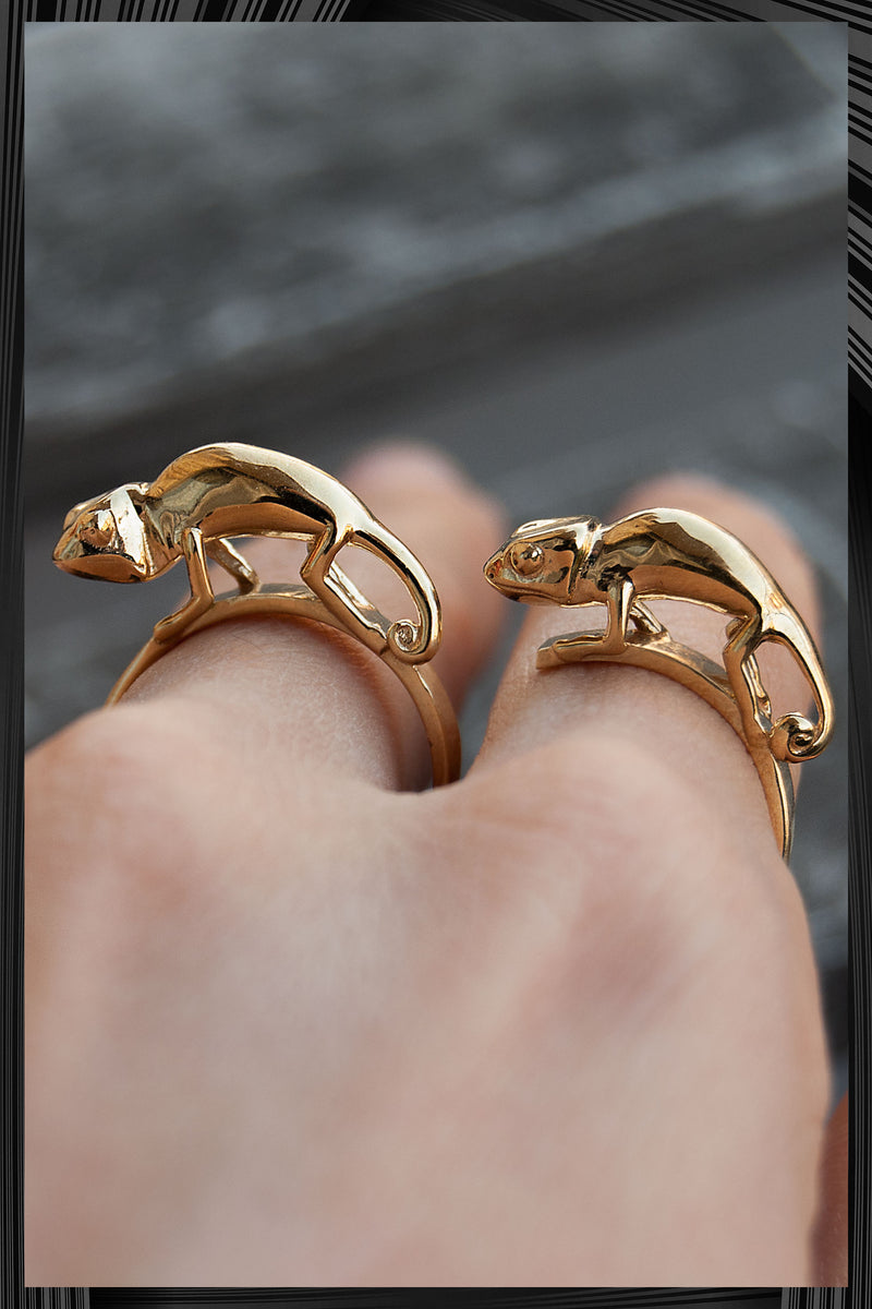 Baby Chameleon Double Ring