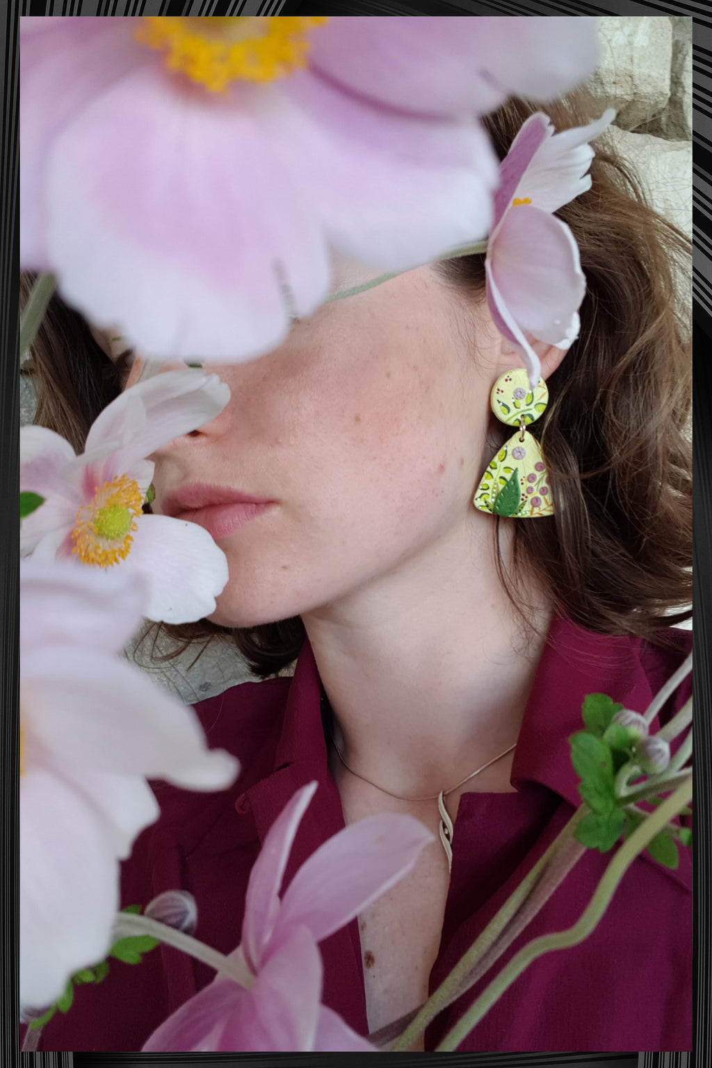 Wild Grass Triangle Earrings | Free Delivery - Quick Shipping
