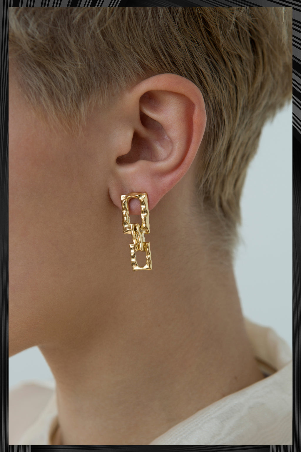 Gold Chain No.4 Earrimgs