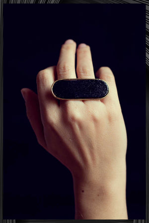 Black and Gold Aptera Ring