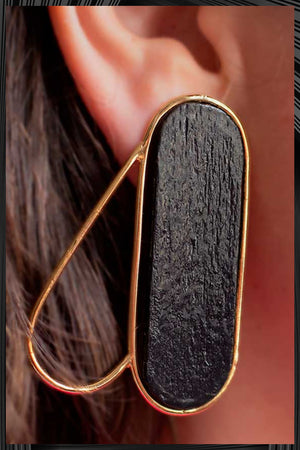 Black and Gold Pteron Earrings