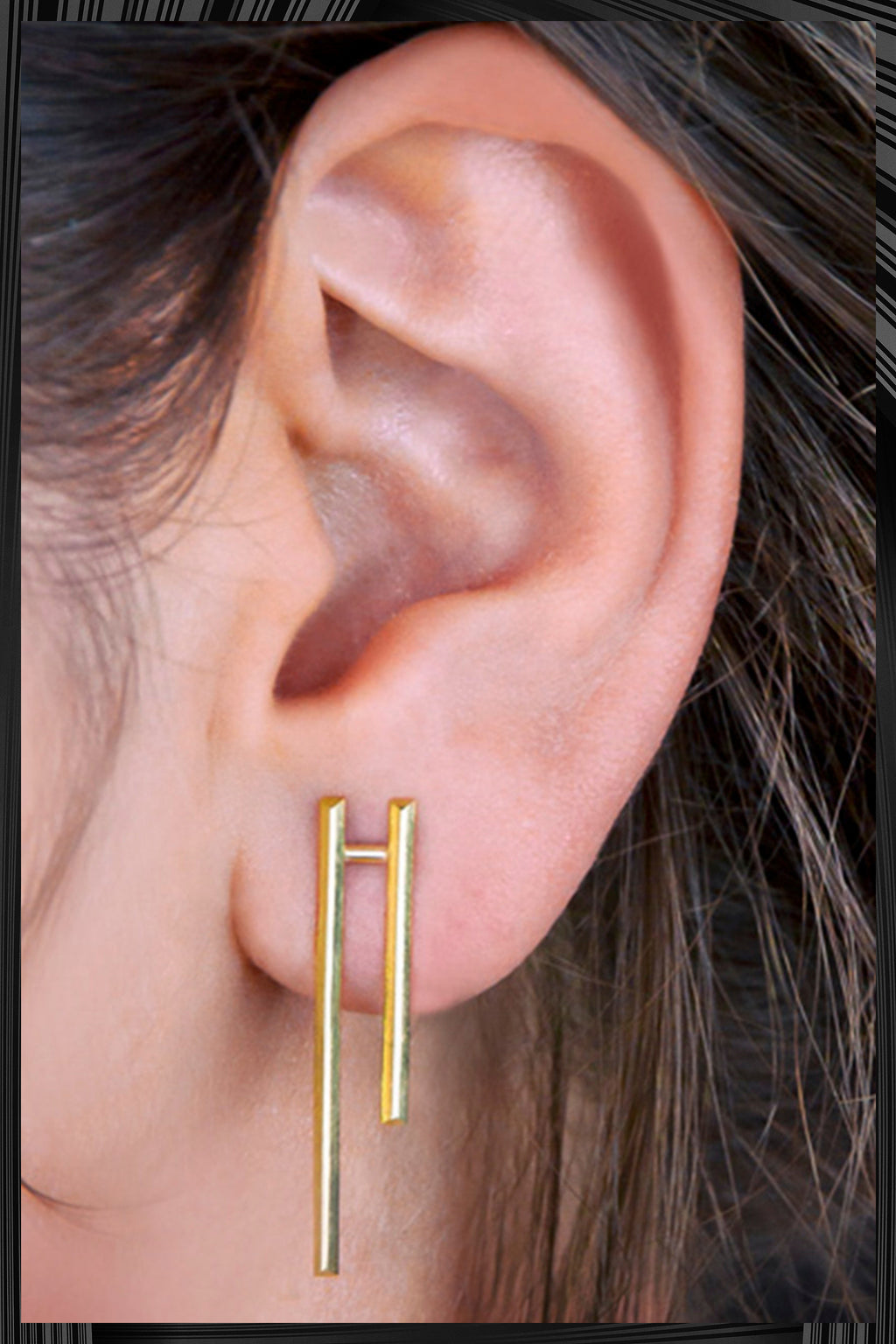 Gold Parallel Earrings