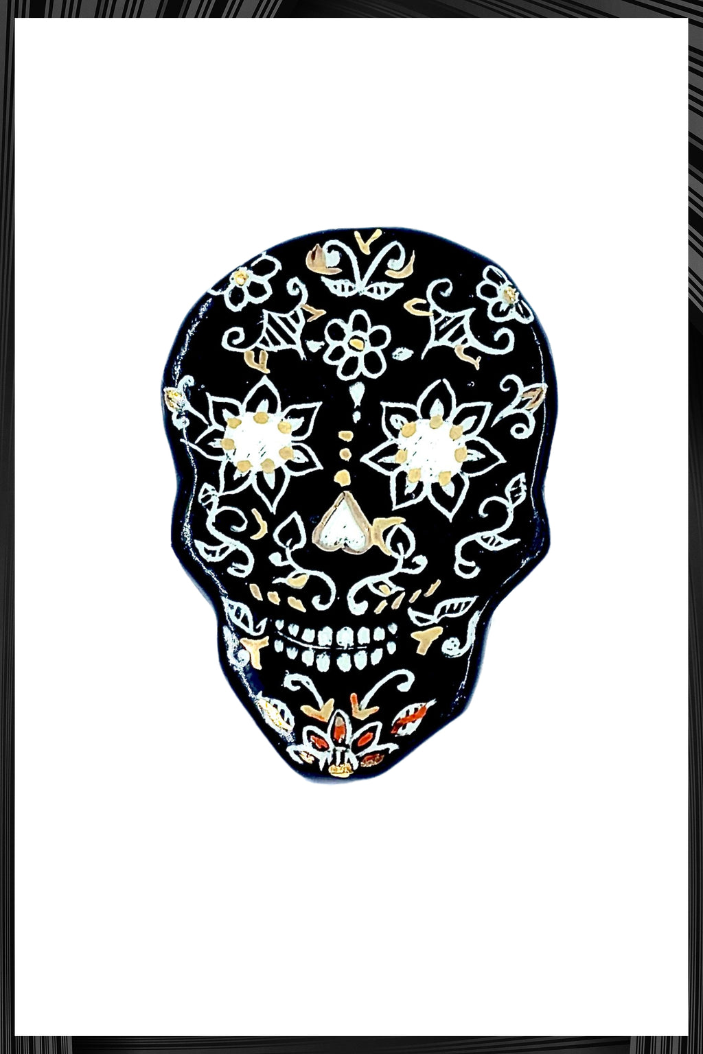 Black Samhain Skull Pin | Free Delivery - Quick Shipping