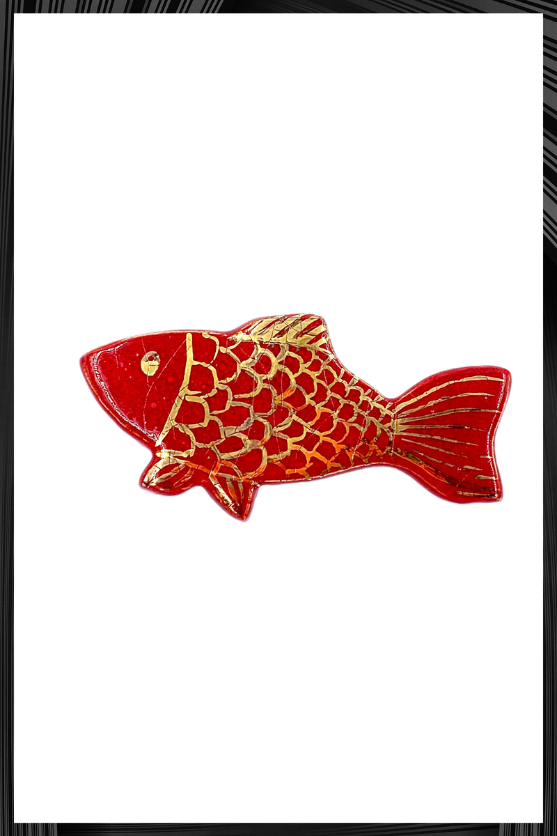 Red Coy Fish Pin
