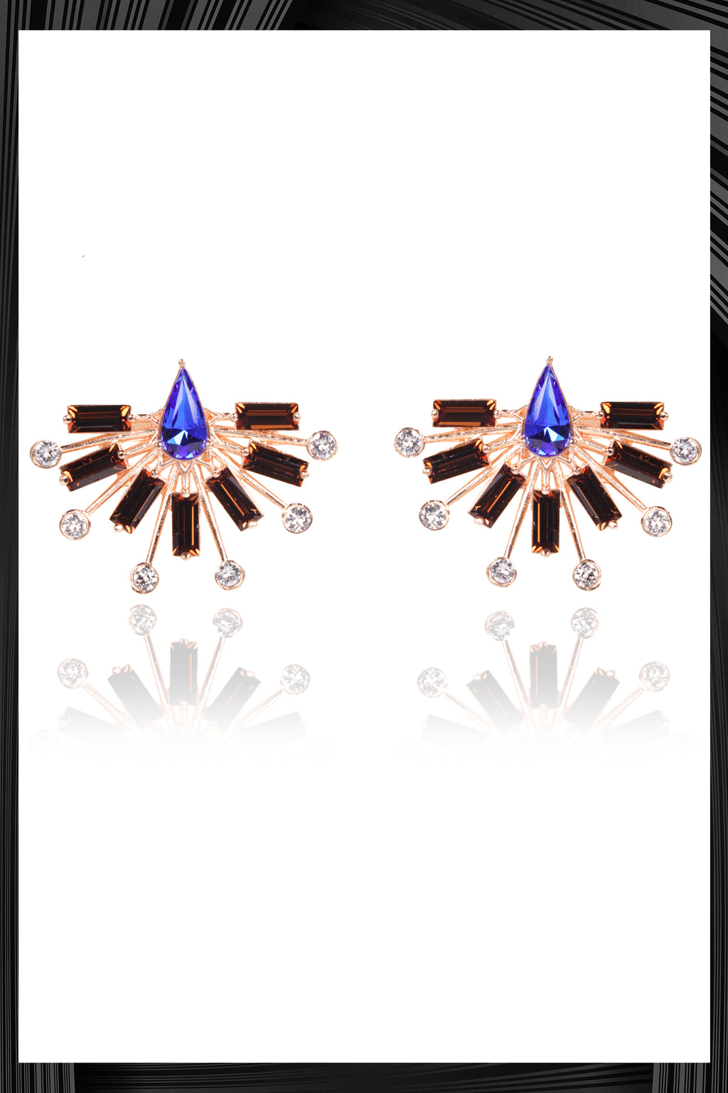 Sapphire Blue Bolero Earrings | Free Delivery - Quick Shipping