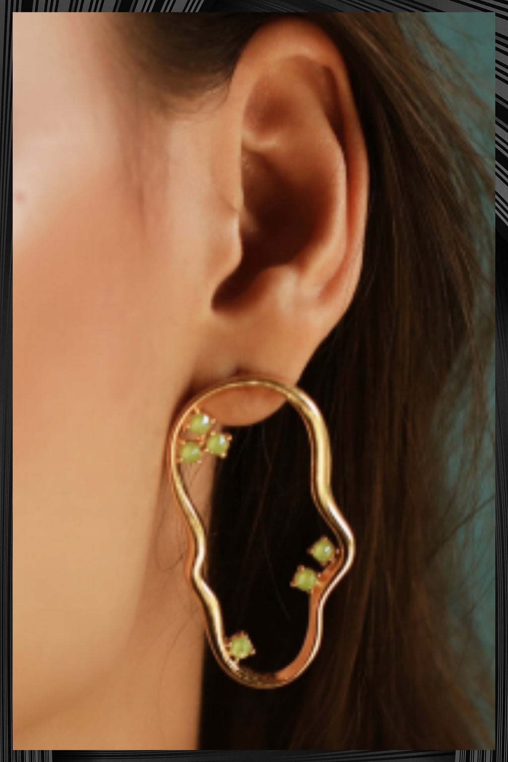 Green Kai Earrings | Free Delivery - Quick Shipping