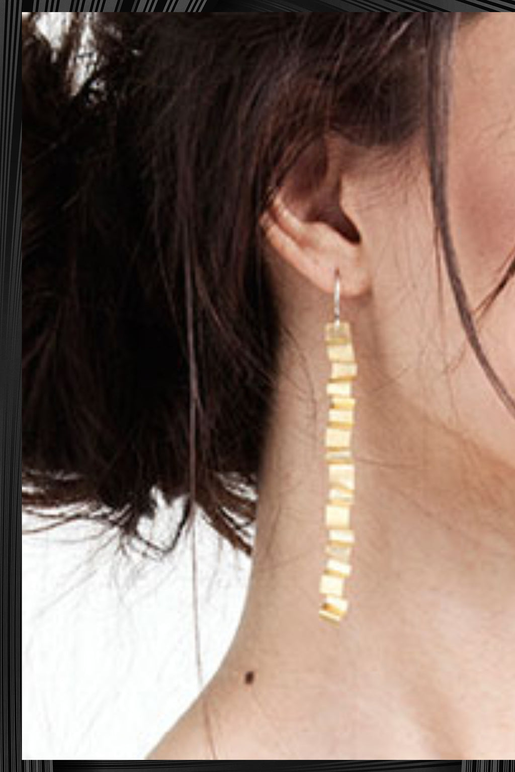 Gold Tagliatella Earrings