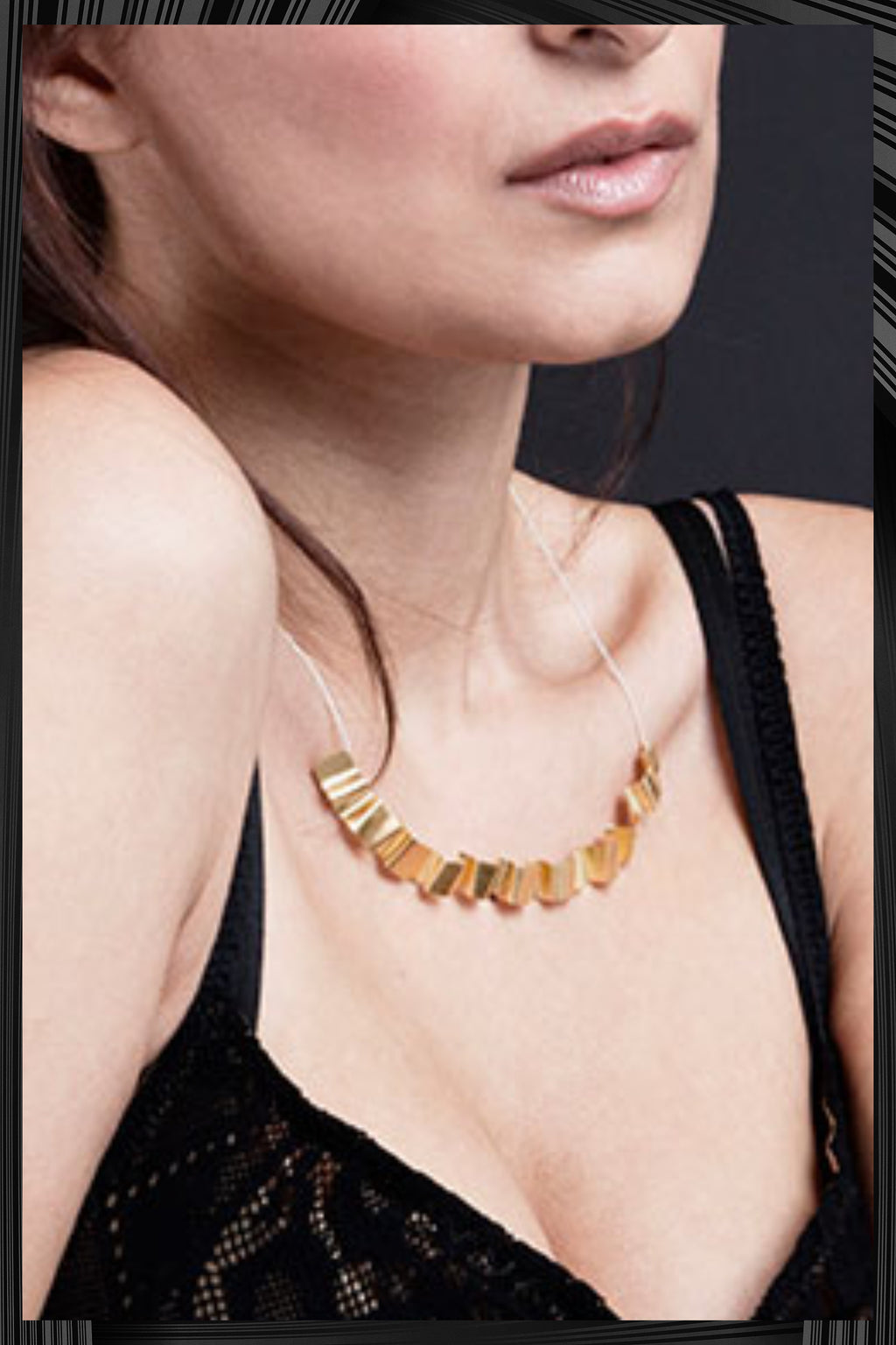 Gold Tagliatella Necklace