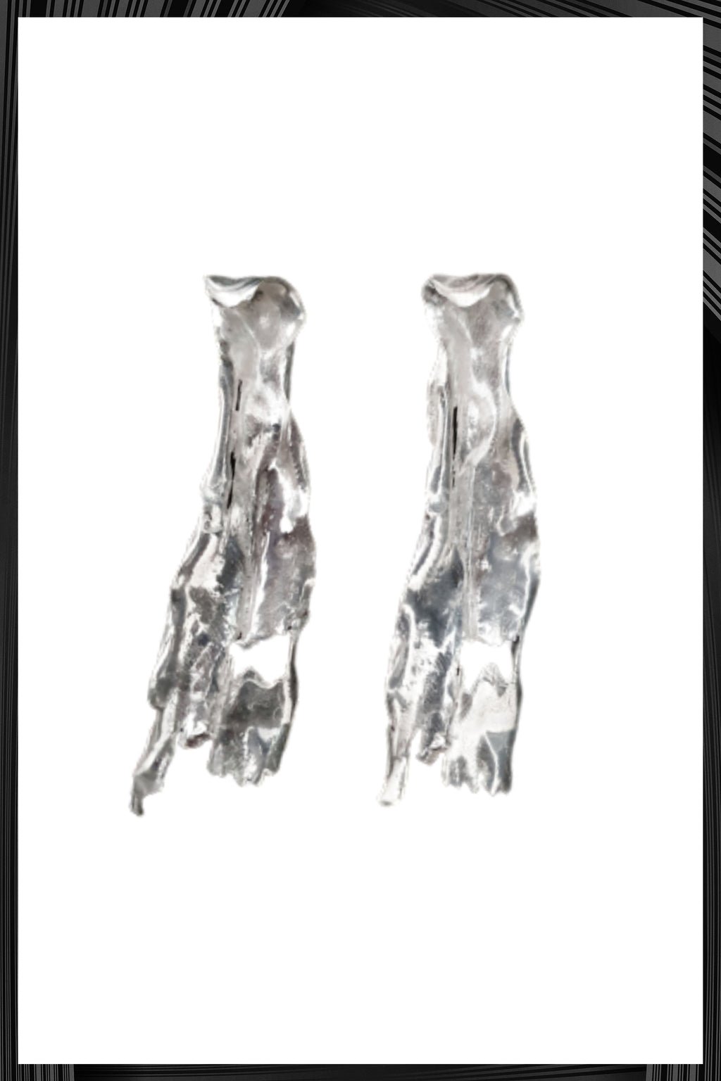 Silver Phlebodium Earrings