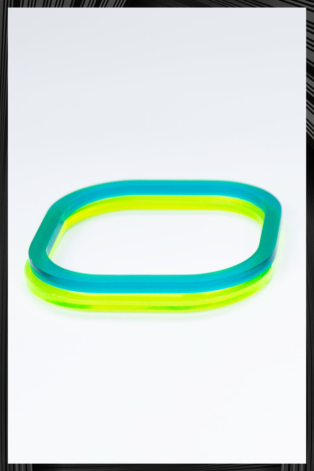 Summer Green Square Bangle Set | Free Delivery - 2-3 Weeks Shipping
