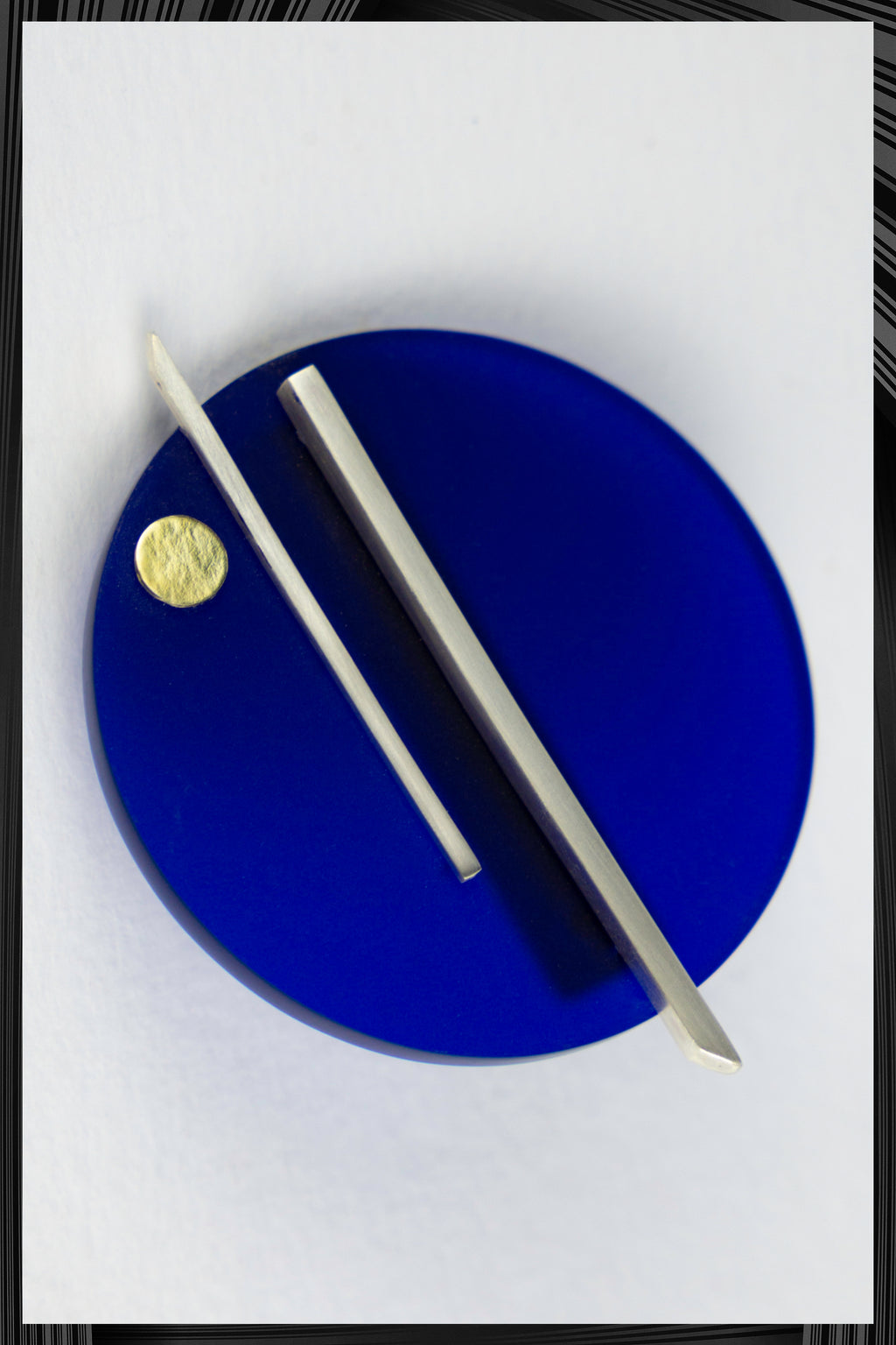 Blue Perspex & Silver Brooch | Free Delivery - 2-3 Weeks Shipping