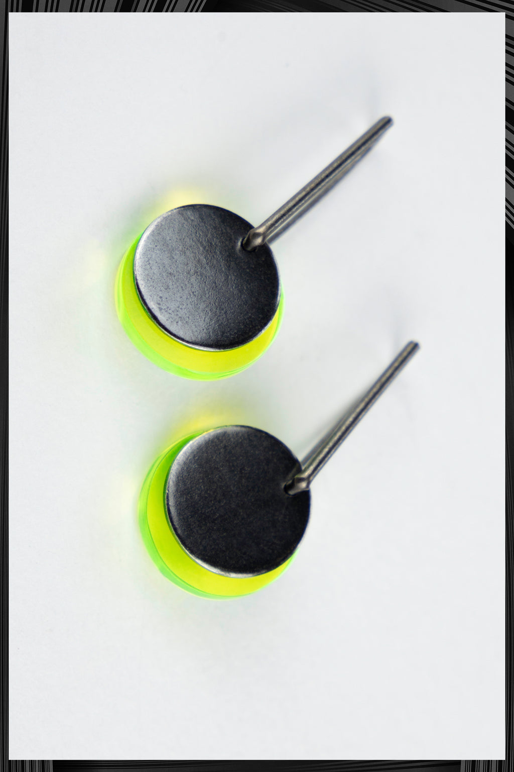 Yellow Solar Eclipse Earrings | Free Delivery - 2-3 Weeks Shipping