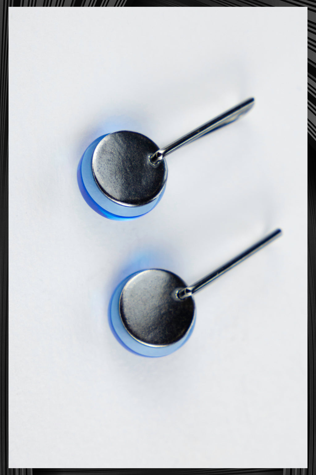 Blue Solar Eclipse Earrings | Free Delivery - 2-3 Weeks Shipping