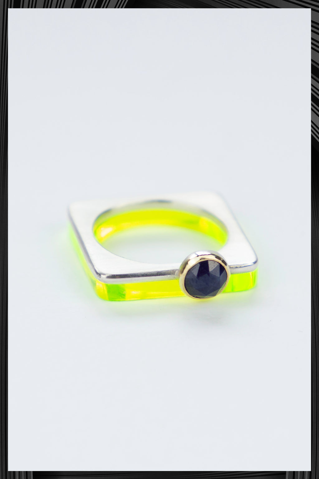Sapphire Summer Green Square Ring Set