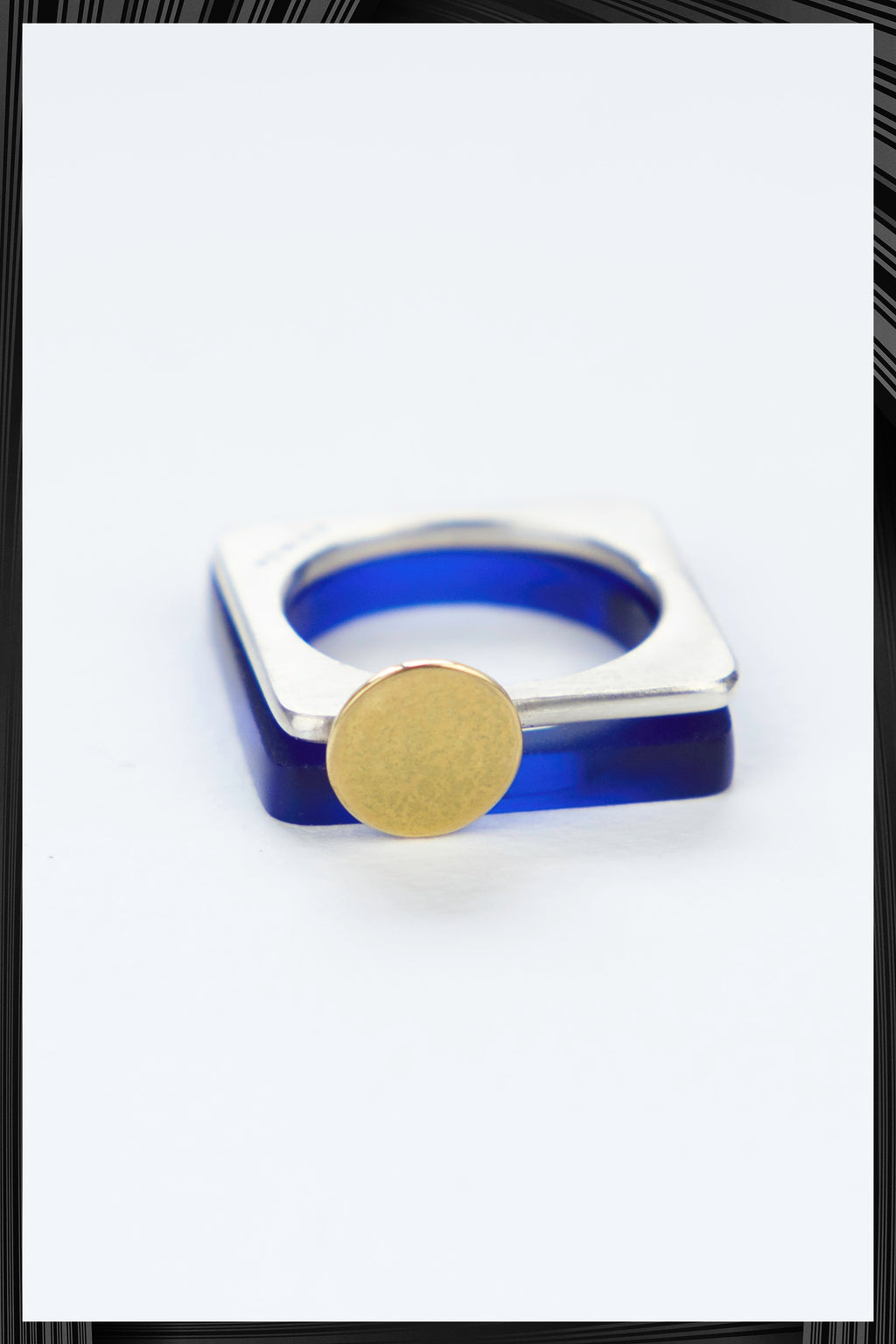 Blue Moon Square Set Ring | Free Delivery - 2-3 Weeks Shipping
