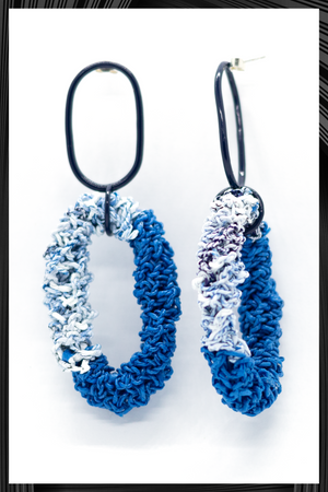 Blue Links Earrings | Free Delivery - Quick Shipping