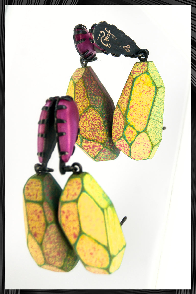 Hot Pink Blossom Dangles | Free Delivery - Quick Shipping