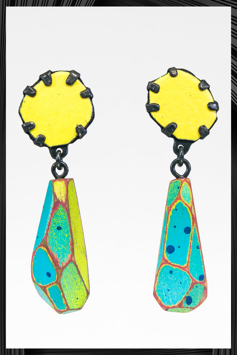 Yellow Blossom Dangles | Free Delivery - Quick Shipping