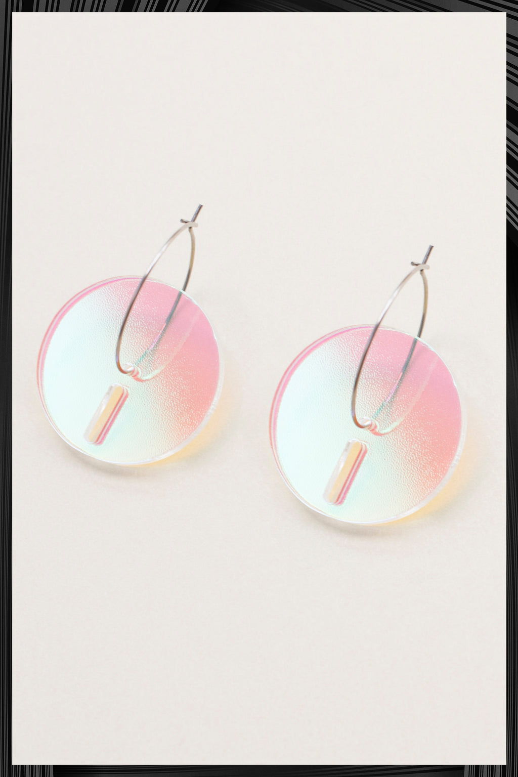 Iridescent Circle Earrings| Quick Shipping