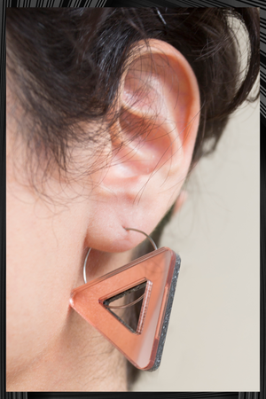 Void Triangle Asymmetrical Earrings | Quick Shipping