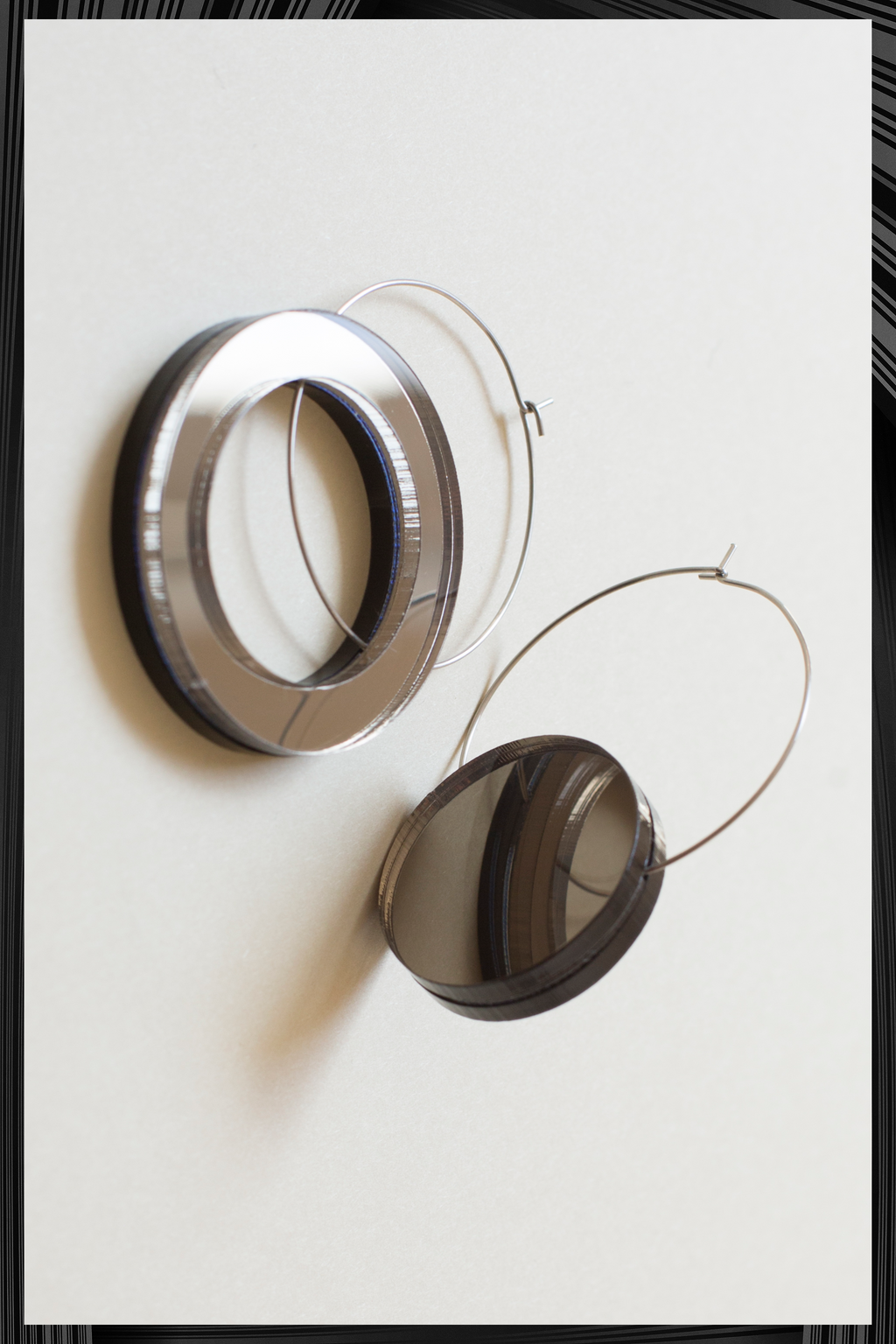 Big Void Asymmetrical Earrings | Quick Shipping
